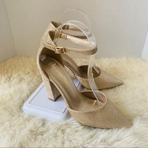 Dream Pairs Pointed Toe Pump Heels Gold Size 7.5
